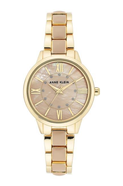 Image of Anne Klein Women's Blush & Goldtone Trend Bracelet Watch, 32mm