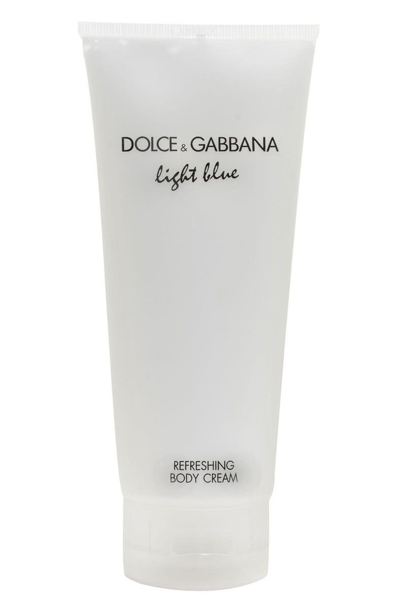 DOLCE&GABBANA BEAUTY Light Blue Refreshing Body Cream, Main, color, NO COLOR