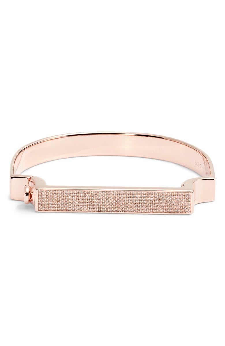 MONICA VINADER Signature Diamond Bangle, Main, color, CHAMPAGNE DIAMOND/ ROSE GOLD