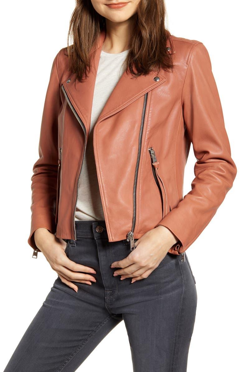 ALLSAINTS Dalby Leather Biker Jacket, Main, color, 663