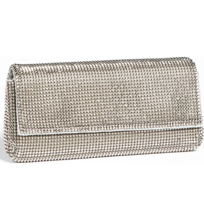 WHITING & DAVIS 'Pyramid' Mesh Clutch, Main, color, PEWTER