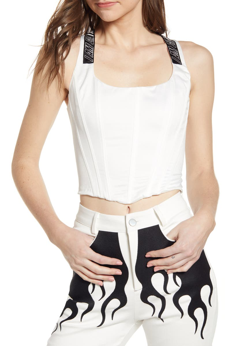 I.AM.GIA Siobhan Corset Top, Main, color, WHITE