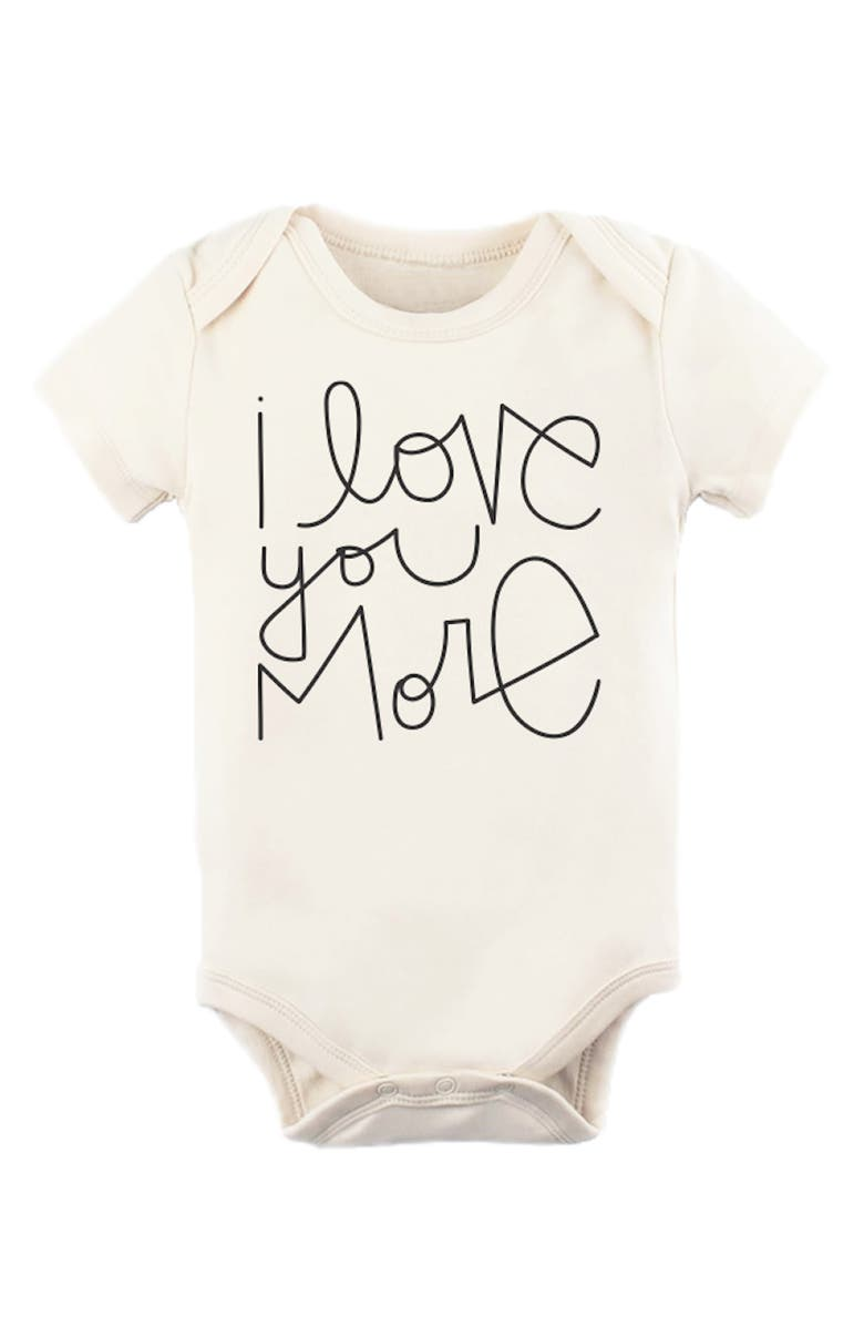 TENTH & PINE Love You More Organic Cotton Bodysuit, Main, color, NATURAL