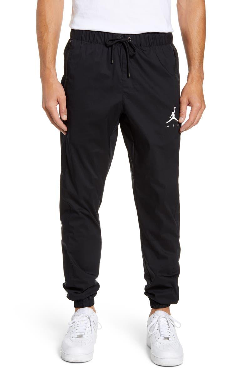 JORDAN Jumpman Woven Athletic Pants, Main, color, BLACK/ WHITE