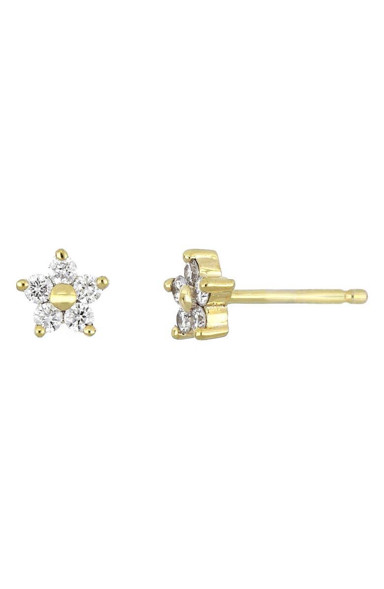 BONY LEVY Getty Diamond Star Stud Earrings, Main, color, YELLOW GOLD