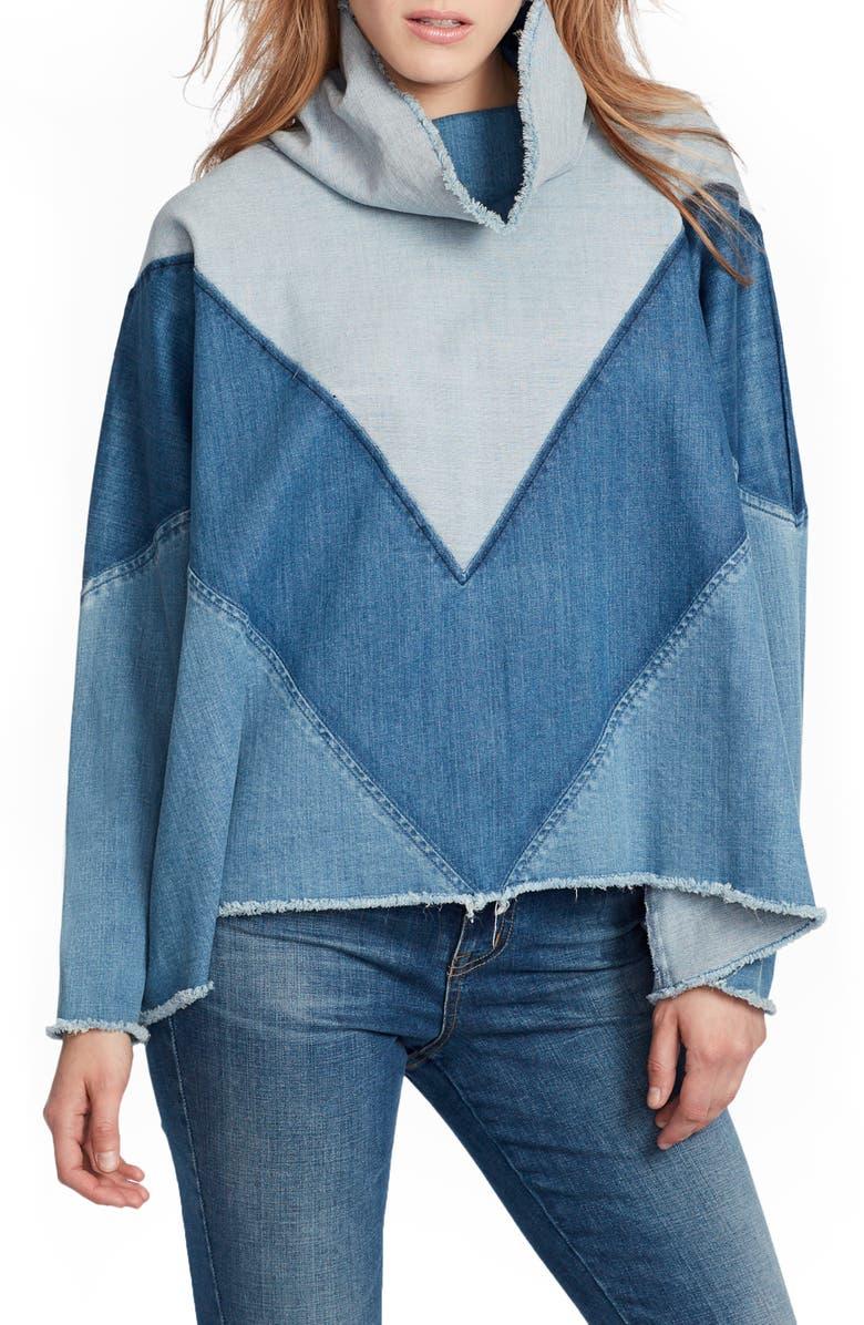 ELLA MOSS Oversize Chevron Pullover, Main, color, MILA