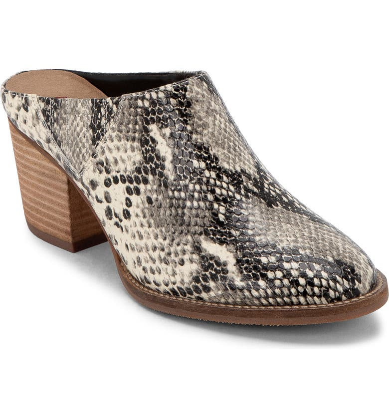 BLONDO Norwich Mule, Main, color, NATURAL SNAKE PRINT LEATHER