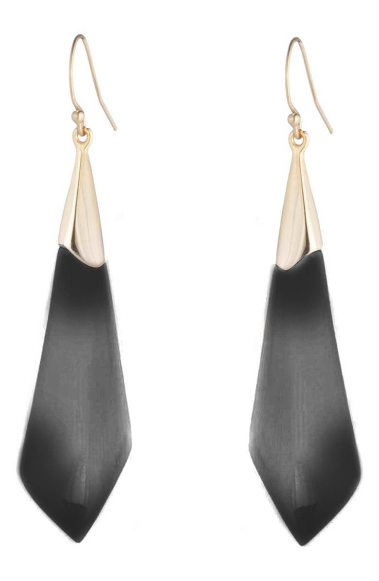 ALEXIS BITTAR Faceted Wire Earrings, Main, color, BLACK