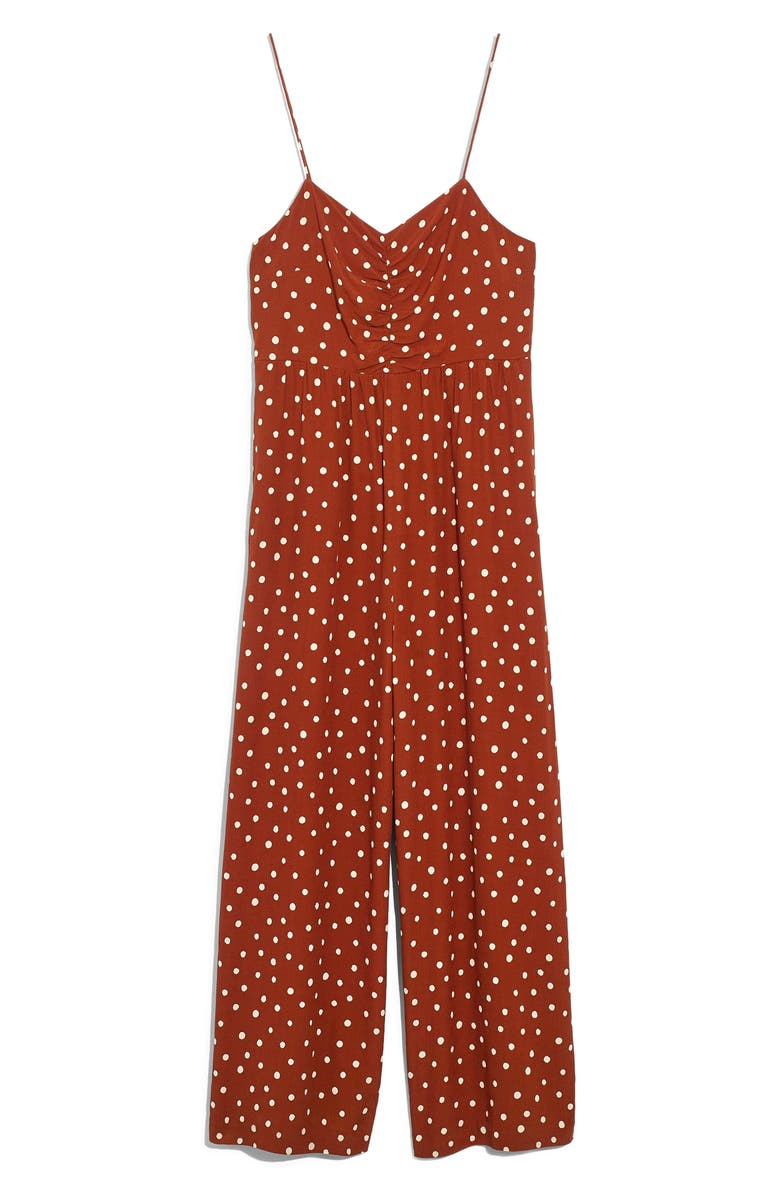 MADEWELL Ruched Wide Leg Jumpsuit, Main, color, 200