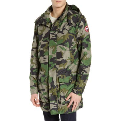 Canada Goose Crew Trench Jacket With Removable Hood, Green