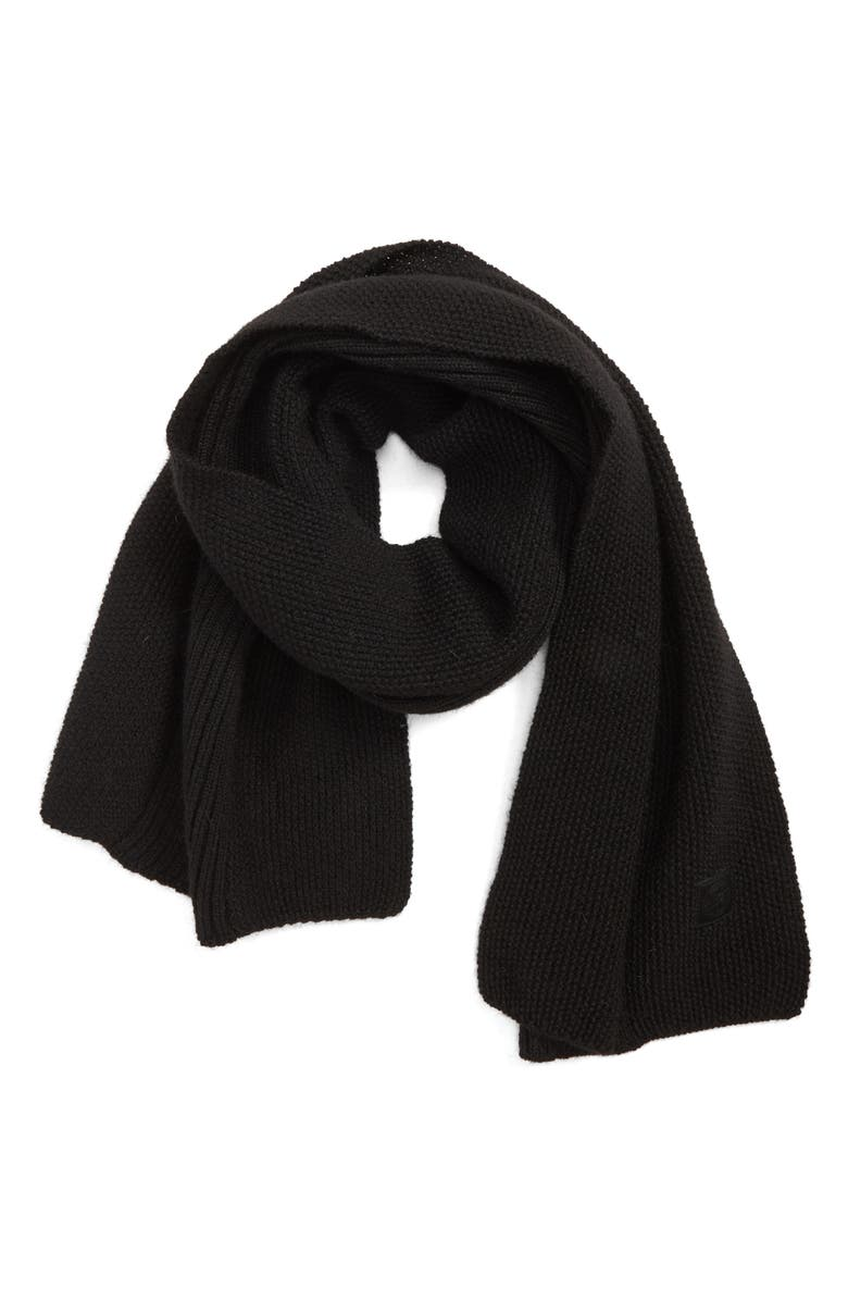 CANADA GOOSE Textured Wool Scarf, Main, color, 001
