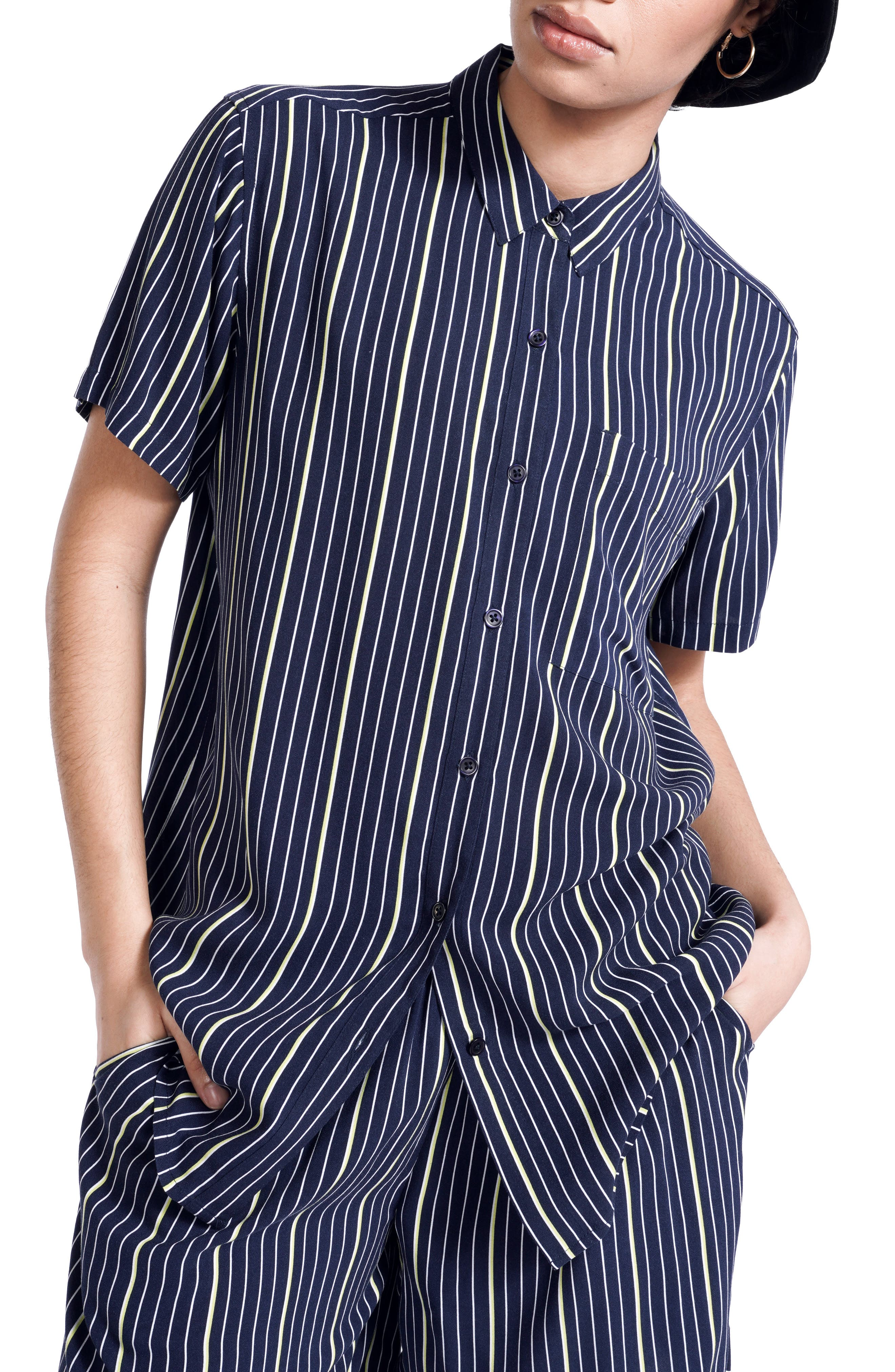 Women's Bp. + Wildfang Relaxed Short Sleeve Button-Down Shirt