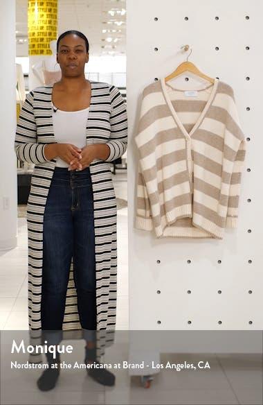 Stripe Knit Cardigan, sales video thumbnail