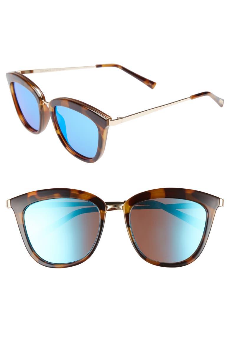 LE SPECS Caliente 52mm Cat Eye Sunglasses, Main, color, 200