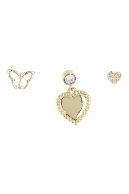 Image of Loren Olivia Butterfly Love Stud Earring Pack - Set of 3