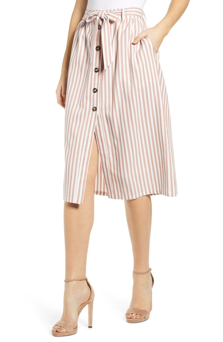 BISHOP + YOUNG Stripe Pencil Skirt, Main, color, 230
