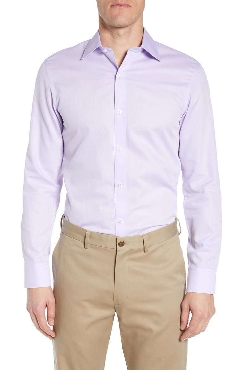 BONOBOS Slim Fit Textured Dress Shirt, Main, color, LAVENDER
