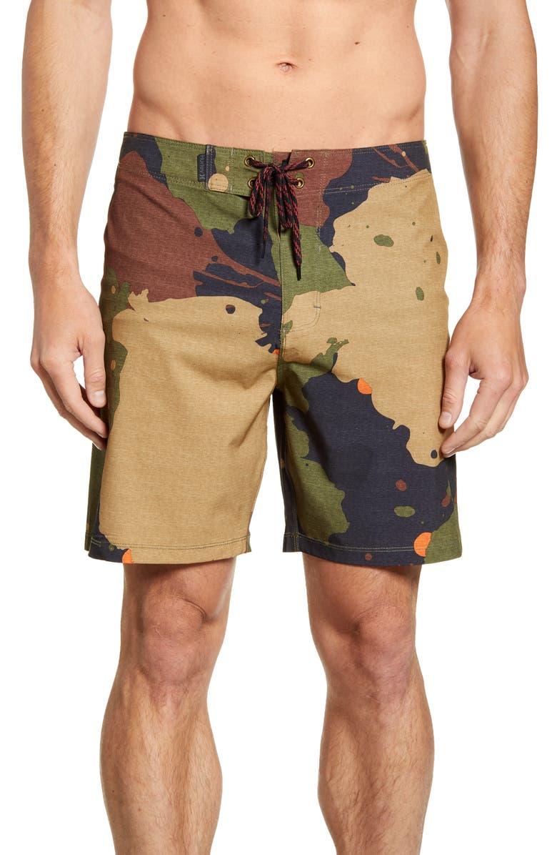 HURLEY Phantom JJF5 Recruit Board Shorts, Main, color, LEGION GREEN