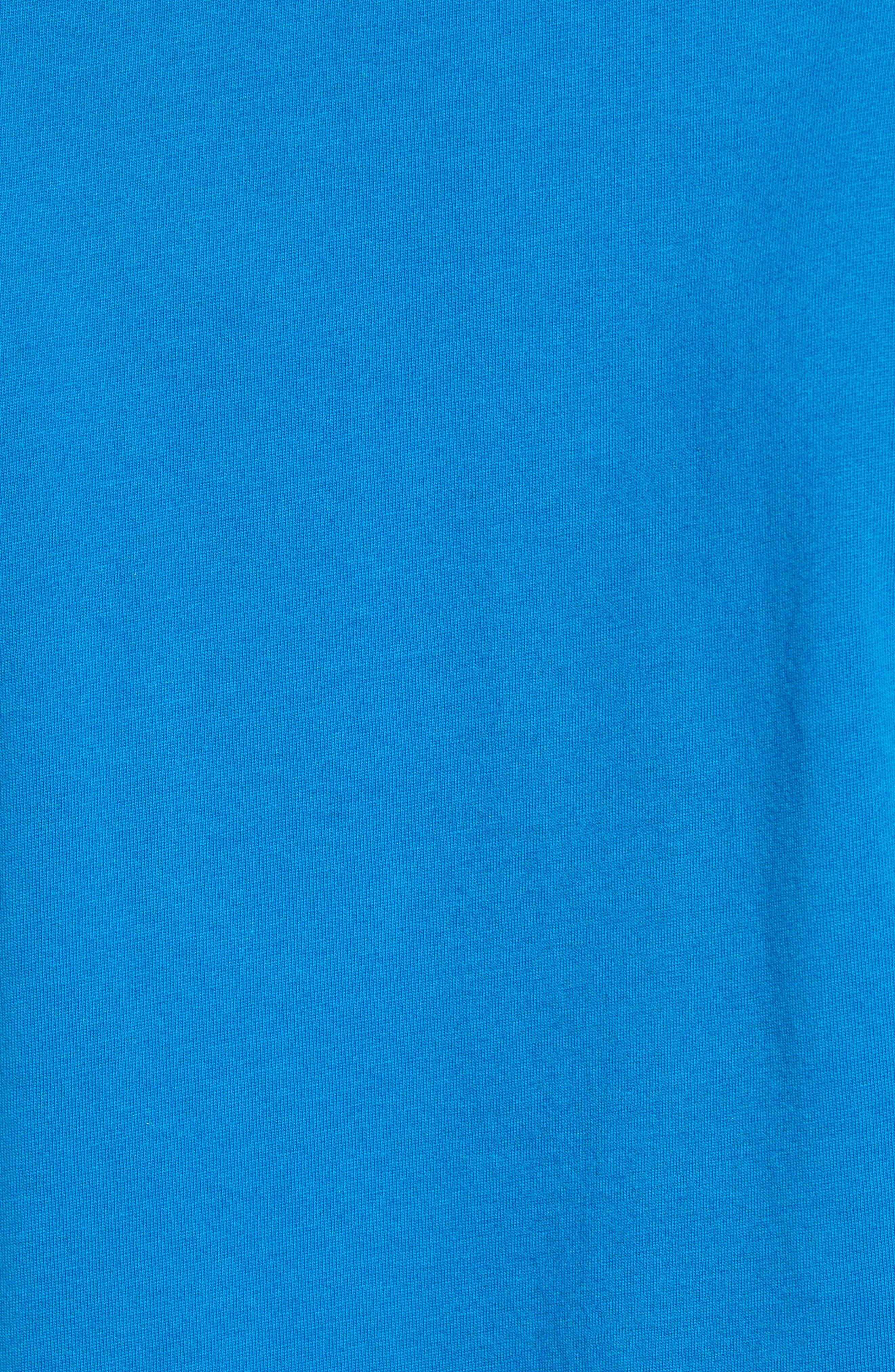 ,                             Trout Fitz Roy Regular Fit Organic Cotton Polo,                             Alternate thumbnail 5, color,                             BALKAN BLUE