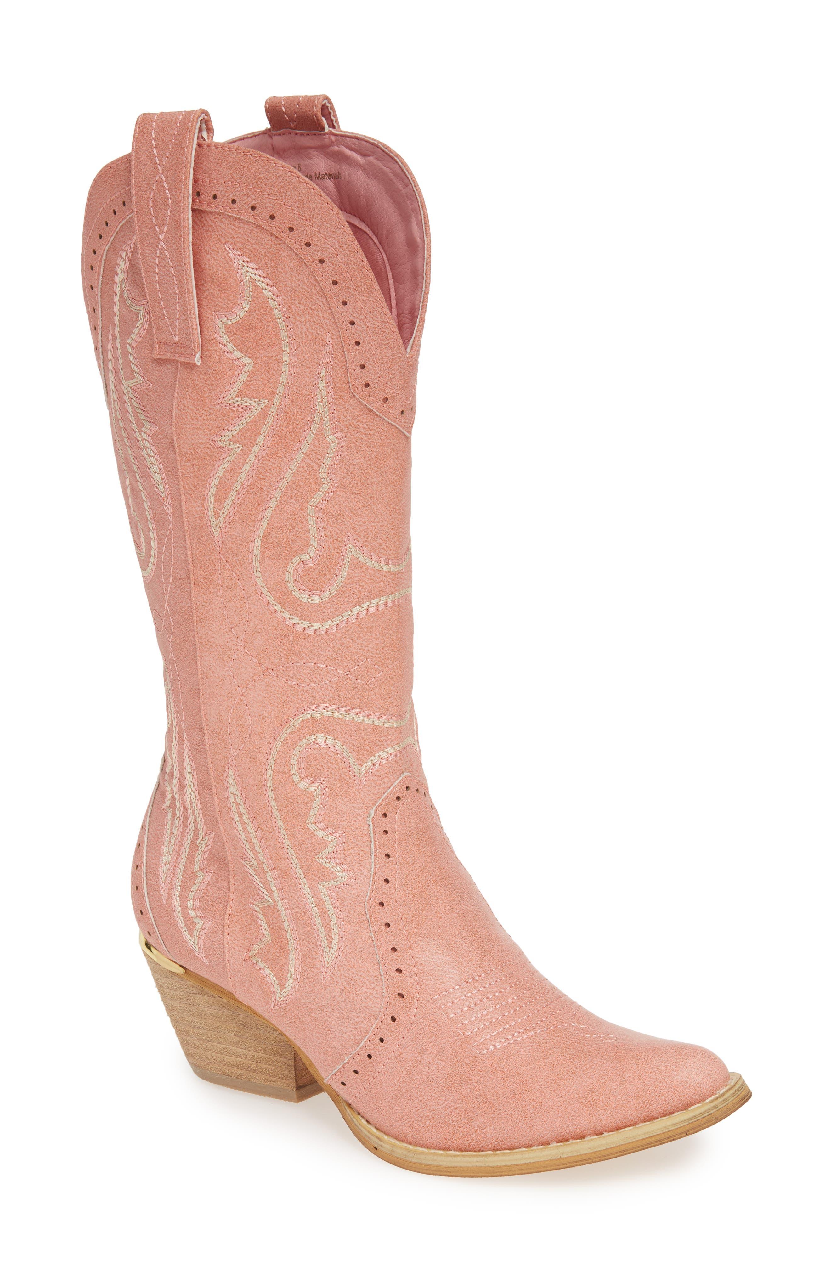 Very Volatile Buckboard Western Boot, Pink