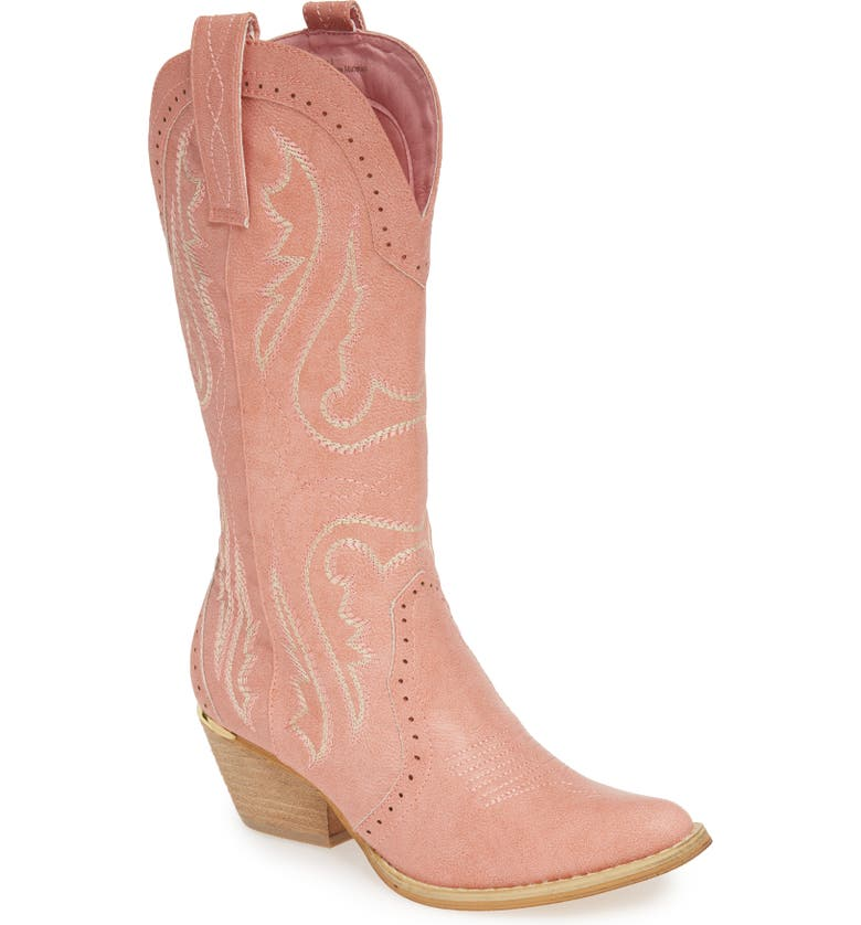 VERY VOLATILE Buckboard Western Boot, Main, color, BLUSH