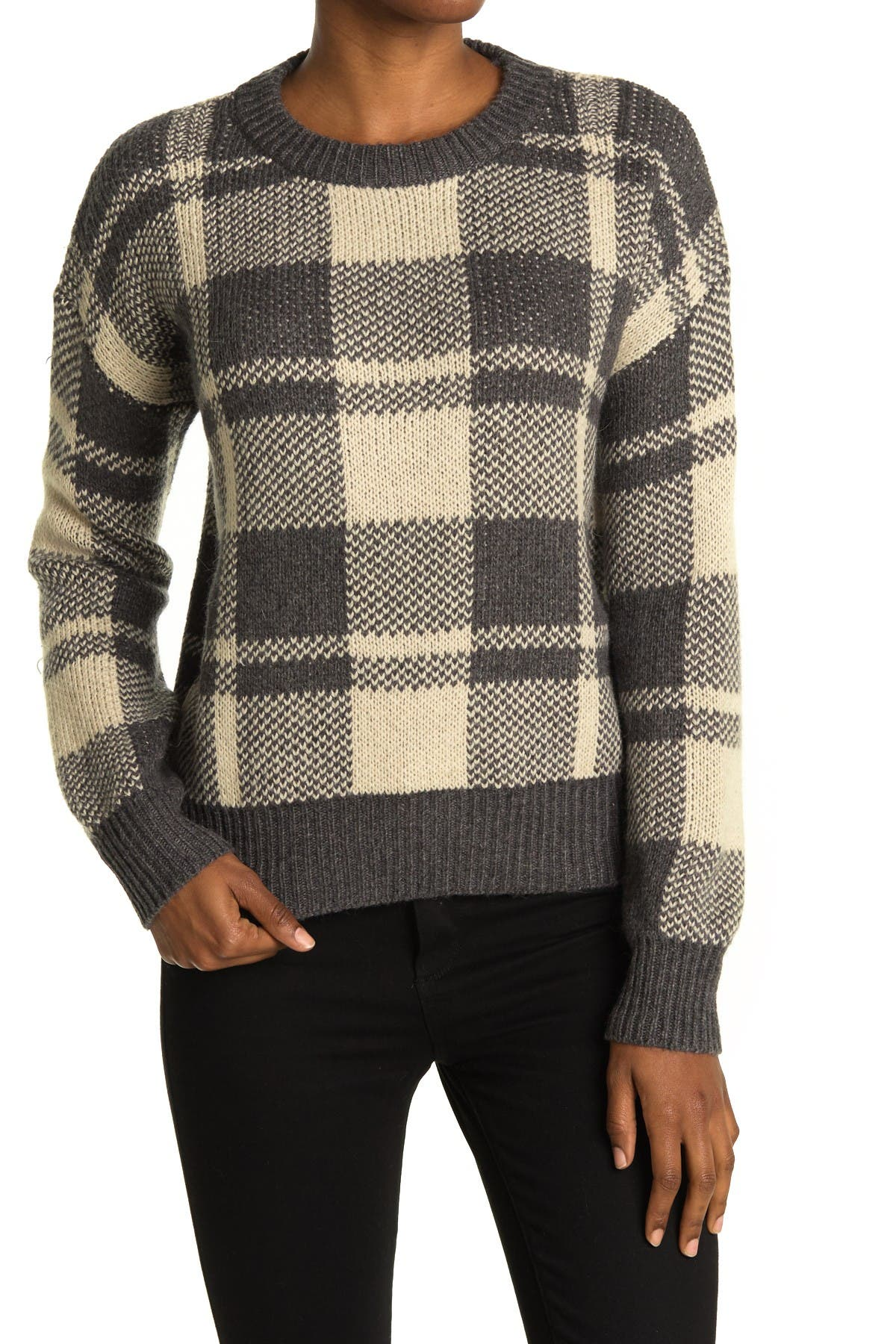 Image of Heartloom Plaid Knit Sweater