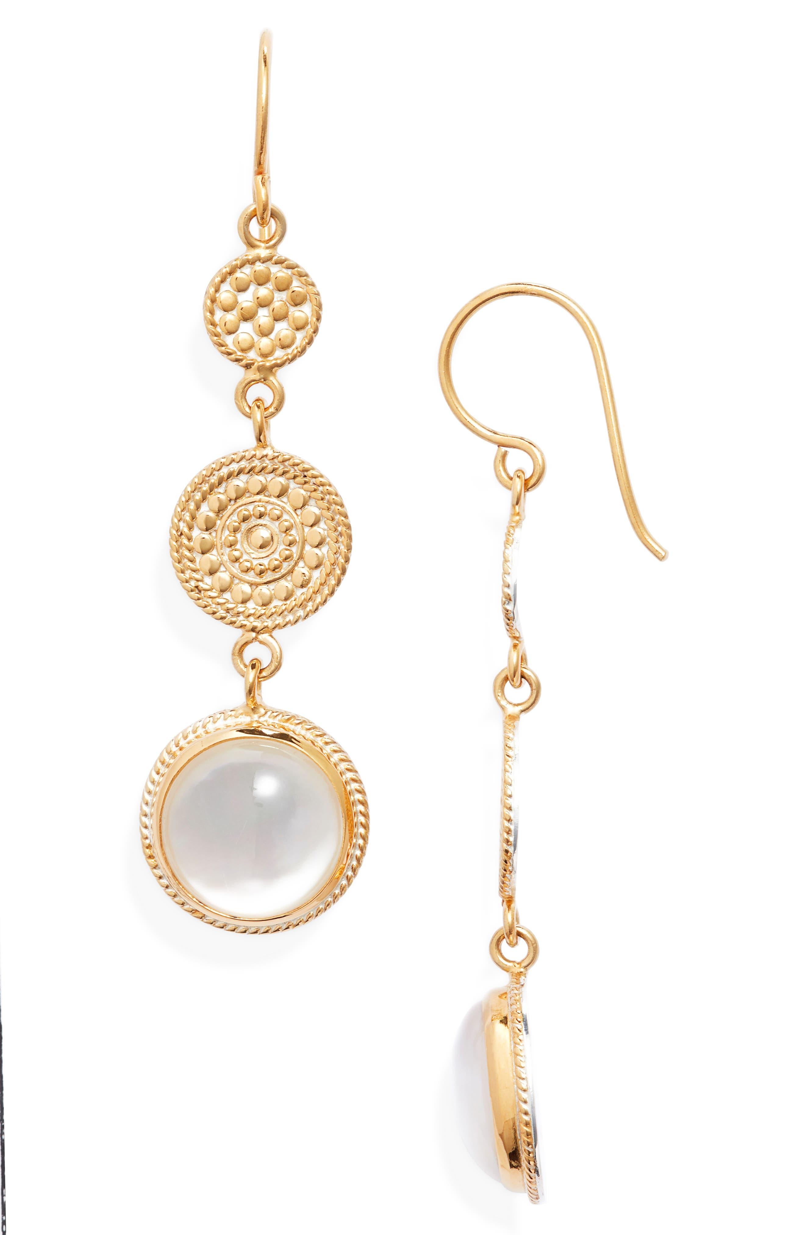 Mother-Of-Pearl Triple Drop Earrings (Nordstrom Exclusive)