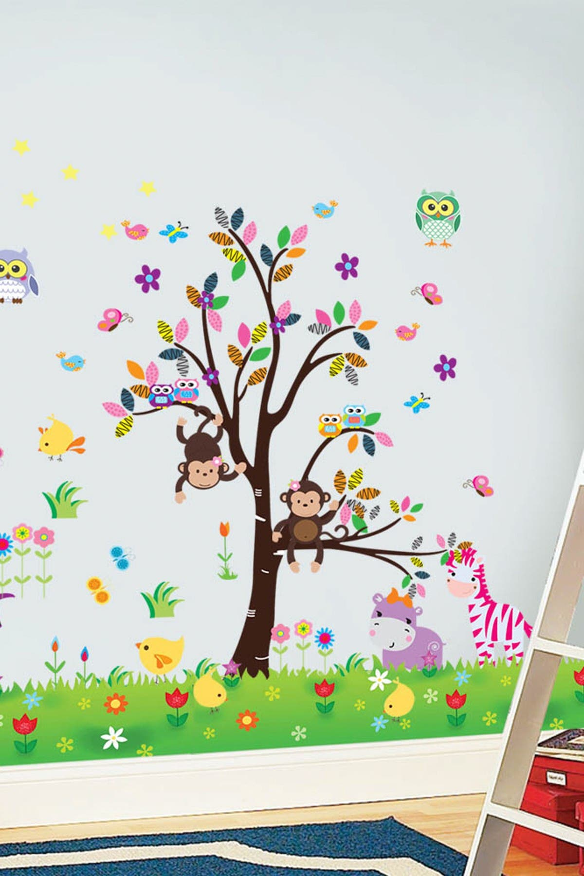 Walplus Owl Tree with Numbers Wall Sticker Art Decoration Decal Home Decorations