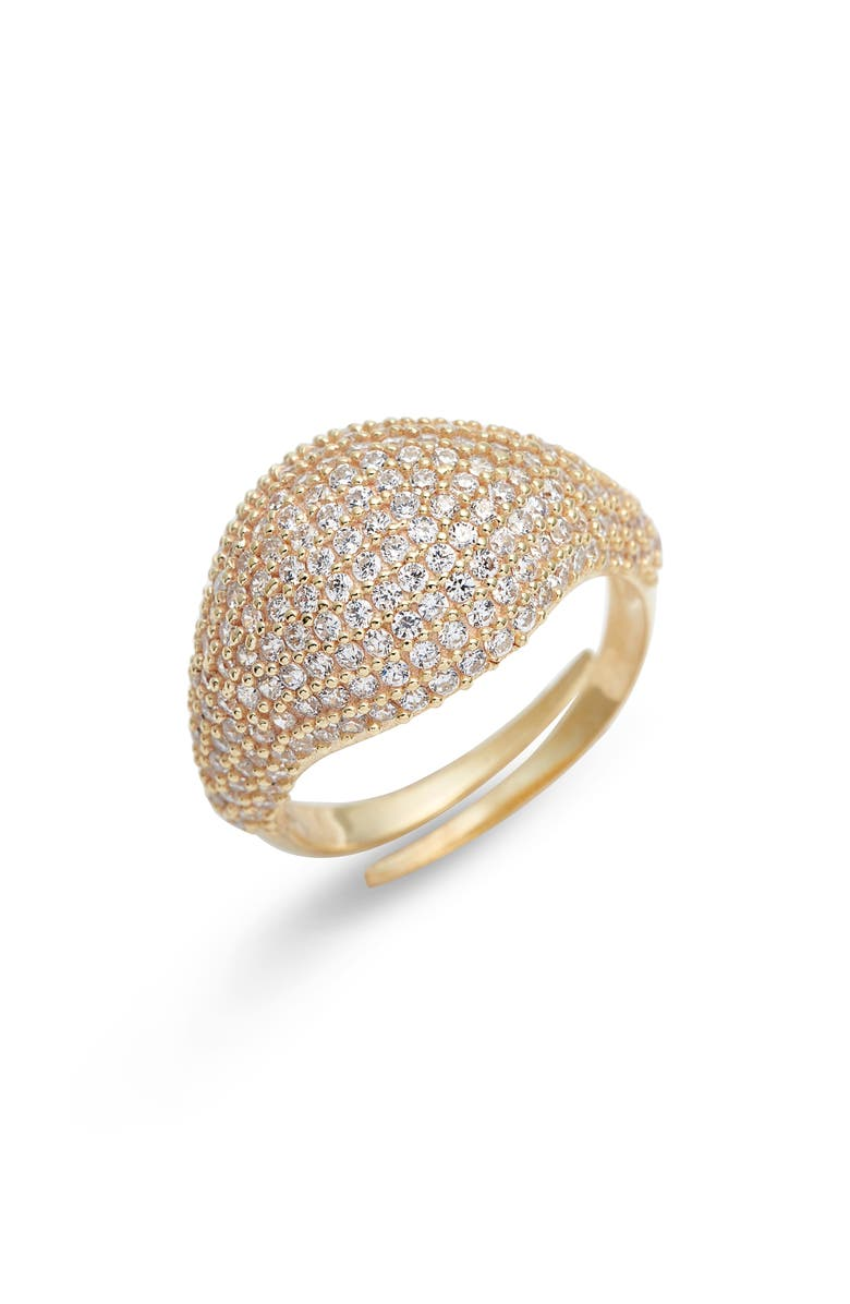 ADINA'S JEWELS Adina's Jewels Pavé Pinky Ring, Main, color, GOLD