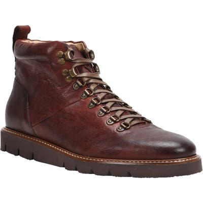 Ross & Snow Stefano Hiking Boot With Genuine Shearling Insole, Brown