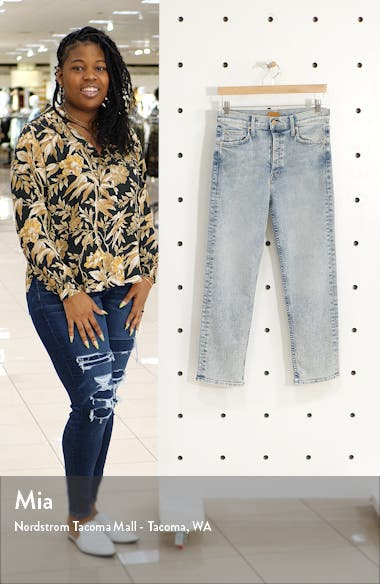The Tomcat High Waist Button Fly Ankle Jeans, sales video thumbnail