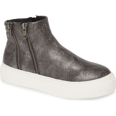 Coconuts By Matisse Dawson Reptile Embossed Platform Sneaker, Grey