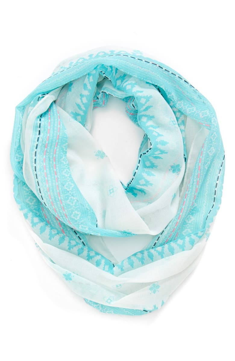 ACCESSORIES 212 Geometric Print Infinity Scarf, Main, color, 400