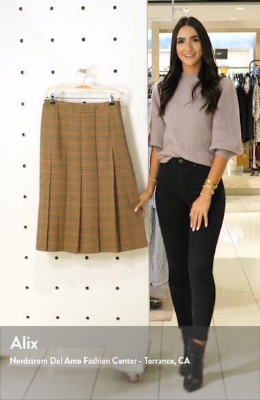 x Atlantic-Pacific Check Pleat Midi Skirt, sales video thumbnail
