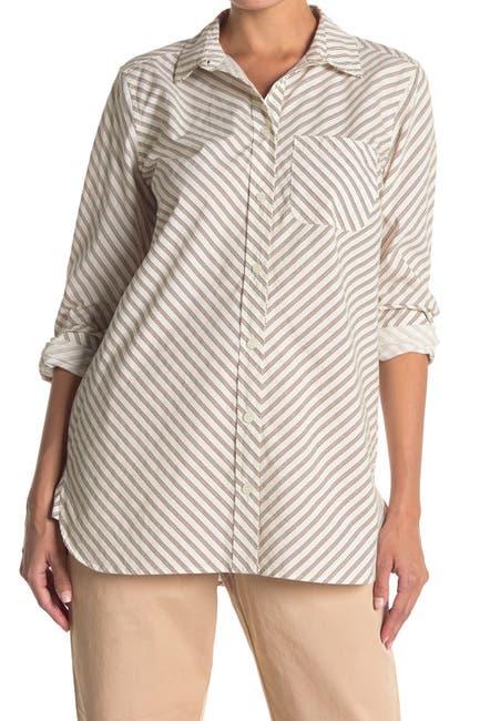 Image of GANNI Swimton Button Front Shirt