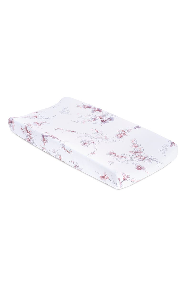 OILO Bella Jersey Changing Pad Cover, Main, color, LAVENDER