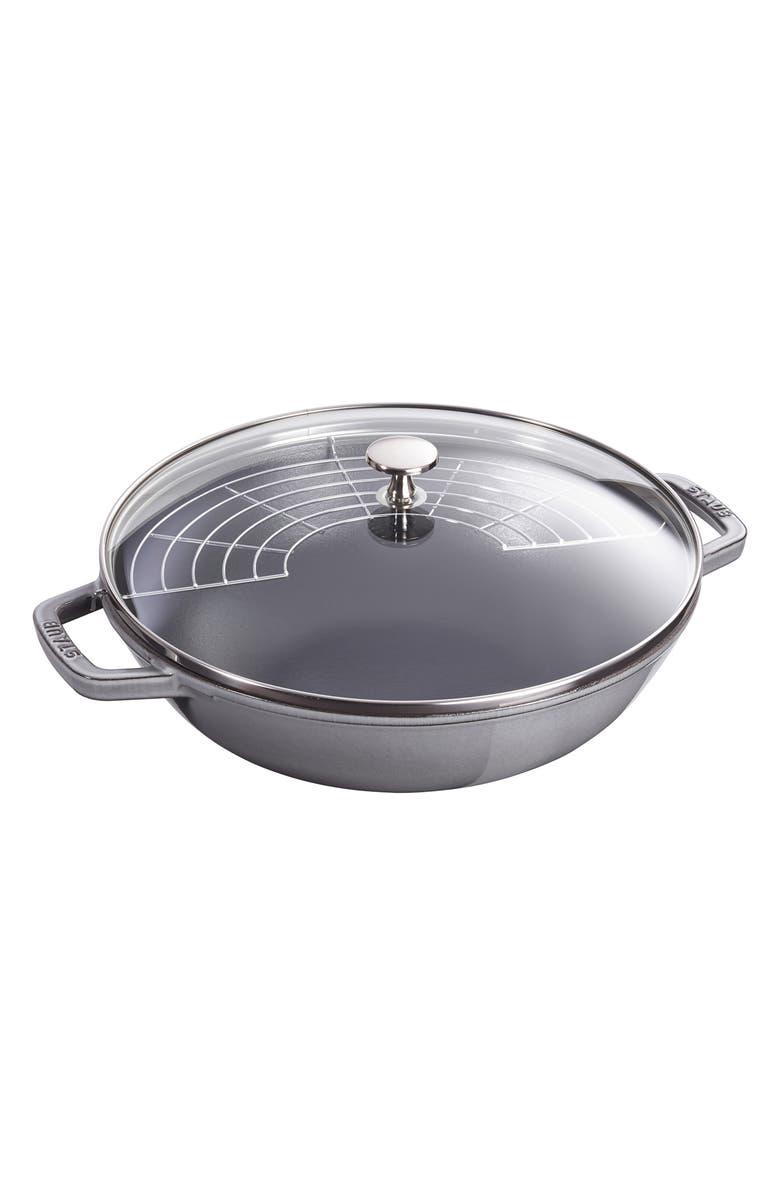 STAUB 4.5-Quart Enameled Cast Iron Perfect Pan, Main, color, GRAPHITE