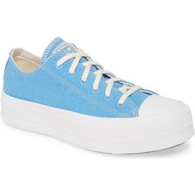 Converse Chuck Taylor All Star Lift Renew Low Top Platform Sneaker, Blue