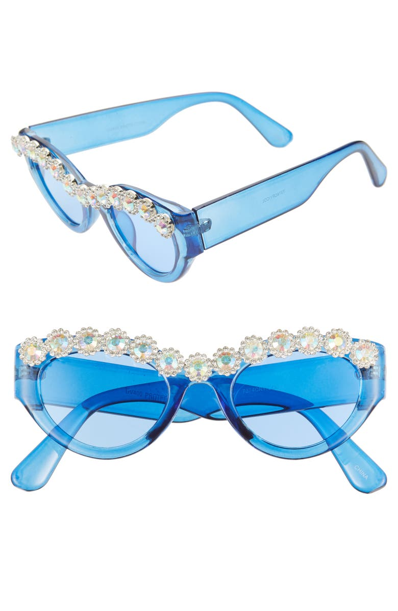 Crystal Embellished Sunglasses by Rad + Refined