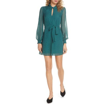 Ali & Jay Room With A View Fil Coupe Chiffon Minidress, Green