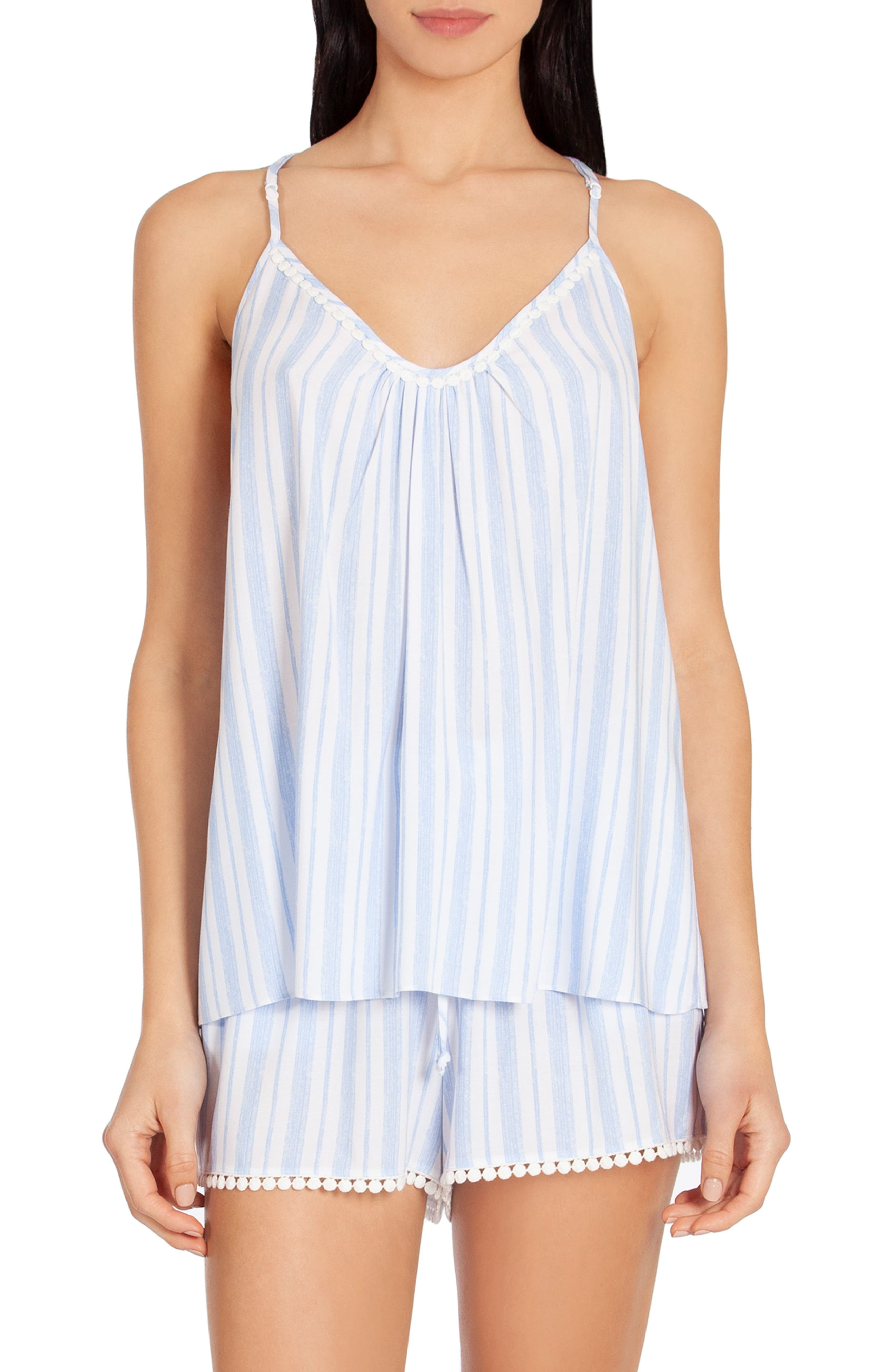 In Bloom By Jonquil Stripe Short Pajamas, Blue (Nordstrom Exclusive)