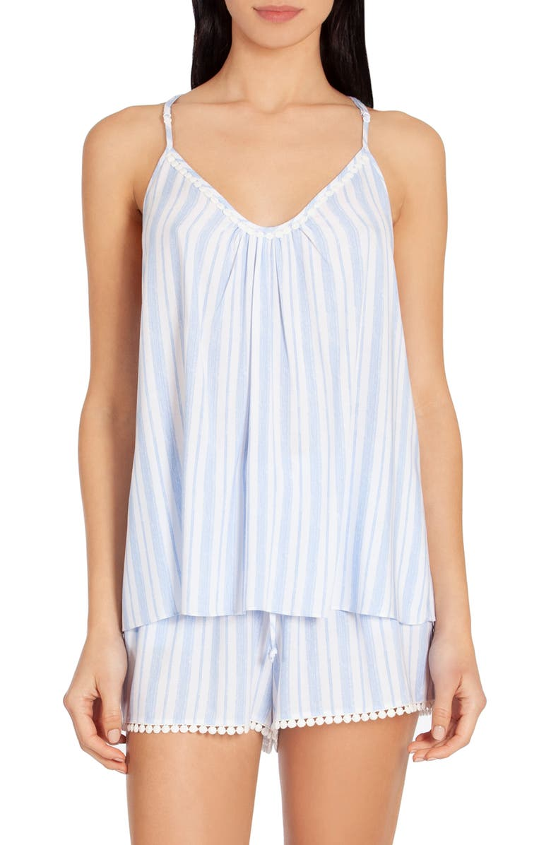 IN BLOOM BY JONQUIL Stripe Short Pajamas, Main, color, BLUE