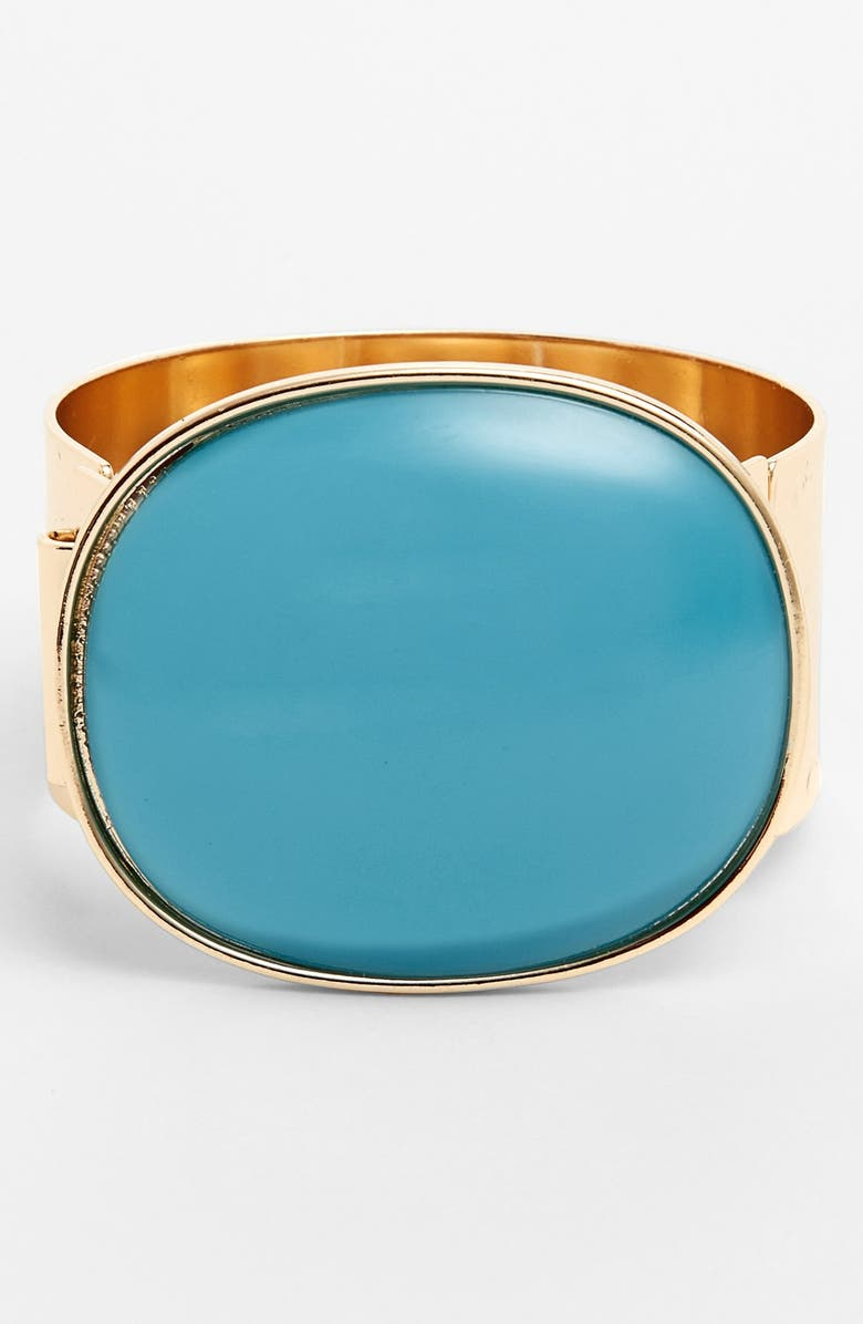LEITH Oversized Stone Statement Cuff, Main, color, 400