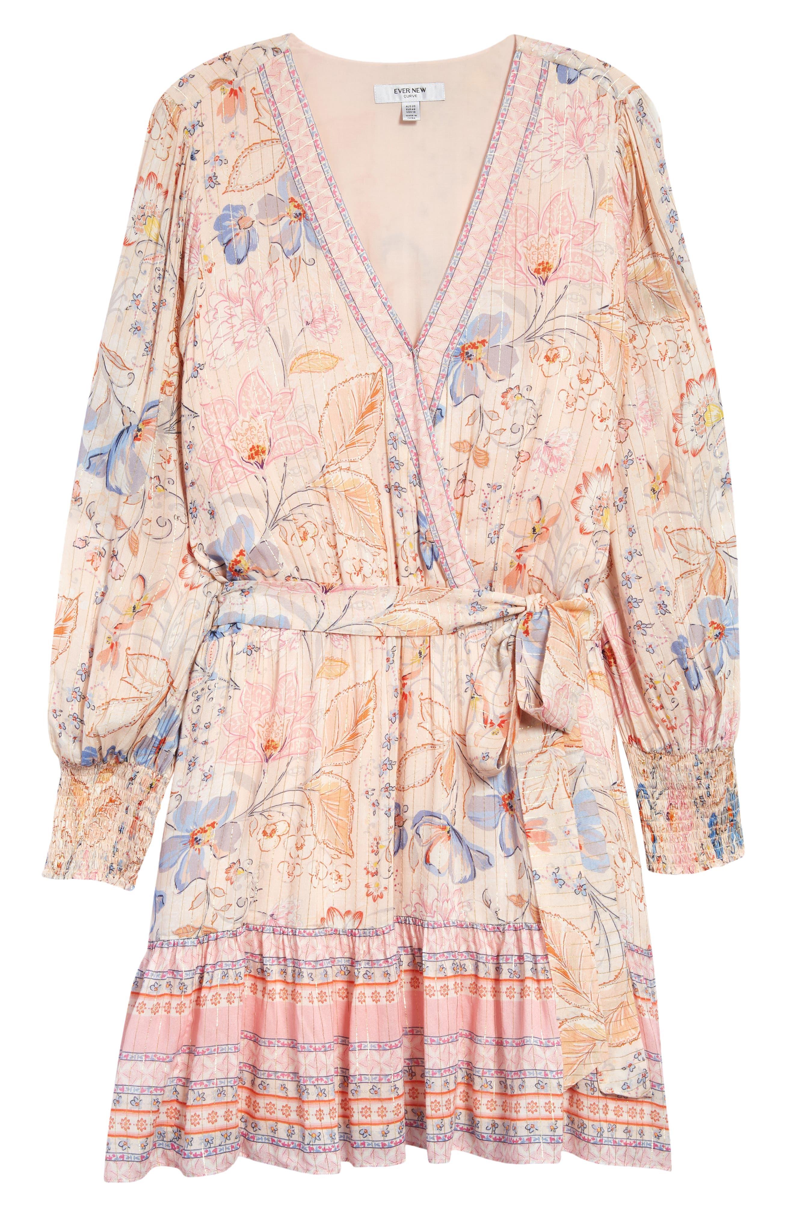 Pauline Long Sleeve Wrap Dress