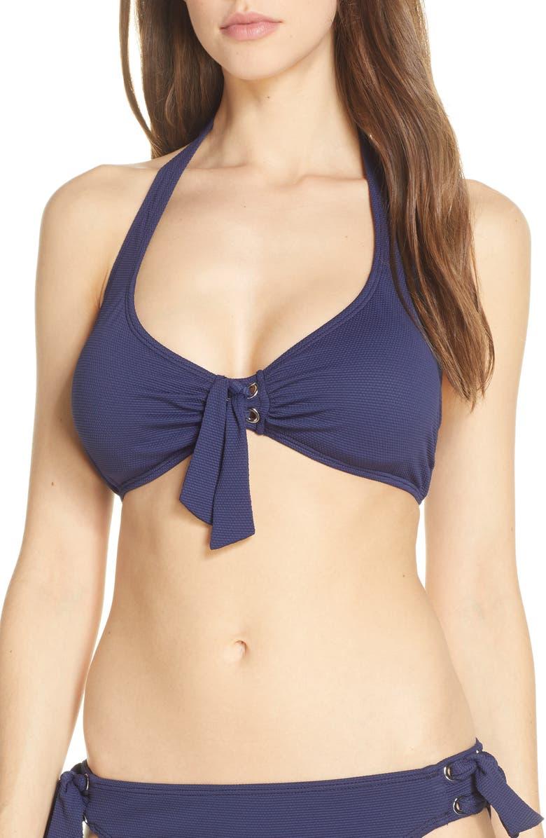TOMMY BAHAMA Underwire Halter Bikini Top, Main, color, 400