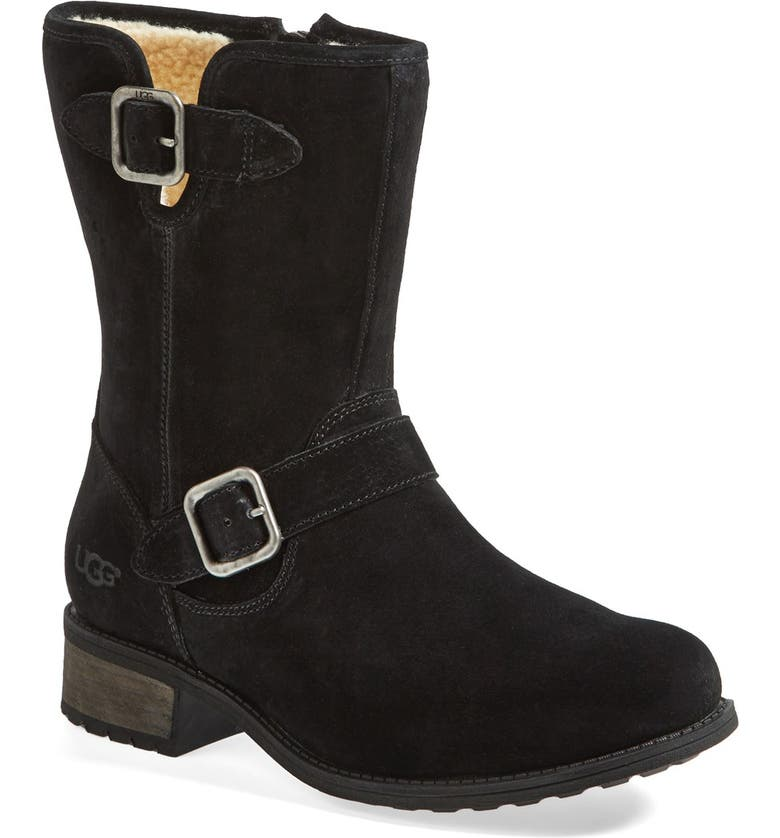 8f3b8f525bc 'Chaney' Water Resistant Suede Moto Boot