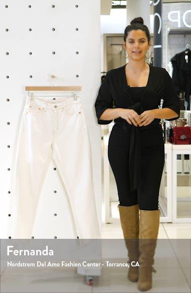 Off White Raw Hem Straight Leg Jeans, sales video thumbnail