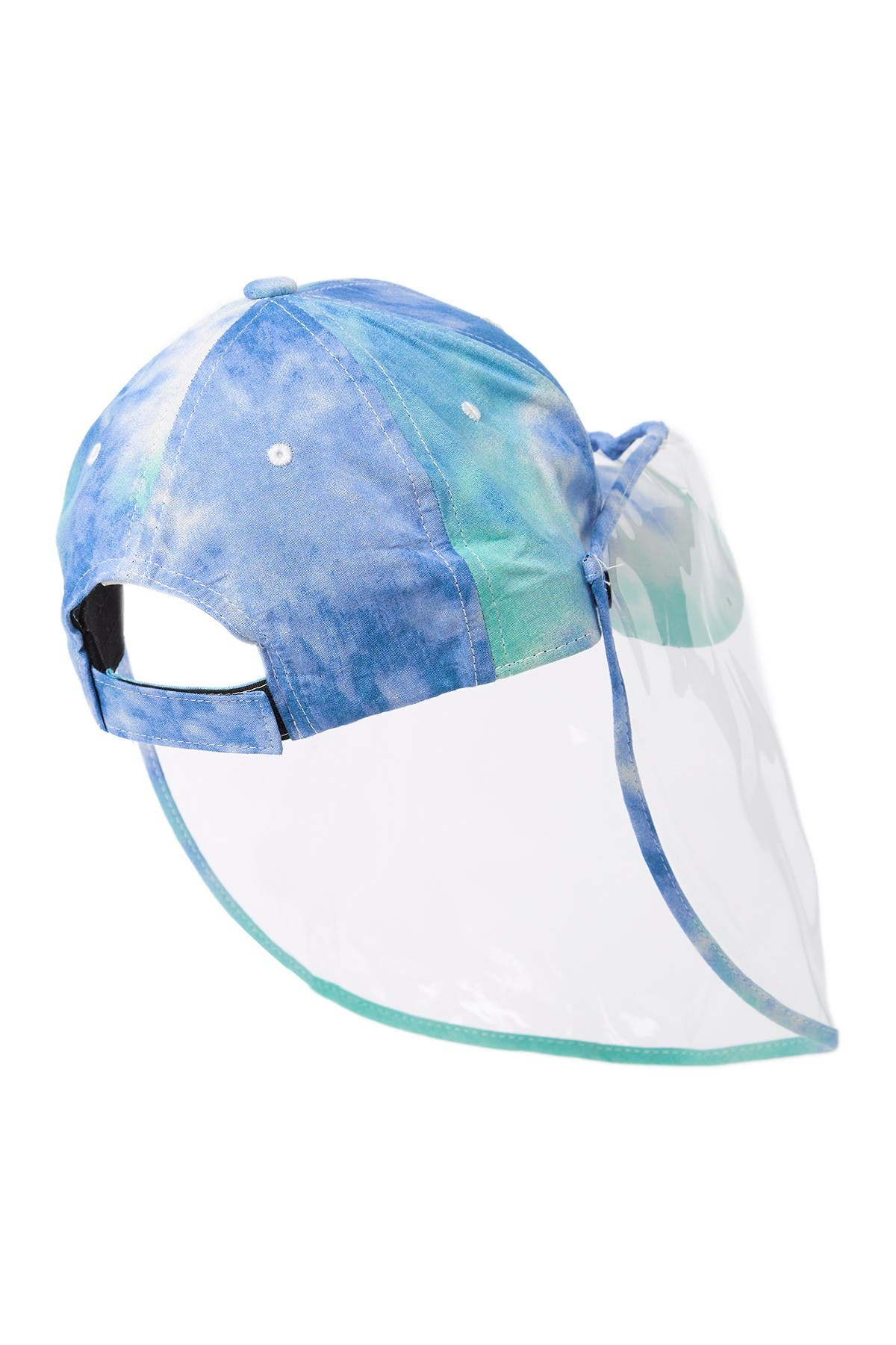 Image of LULLA COLLECTION BY BINDYA Tie Dye Trim Face Shield Cap
