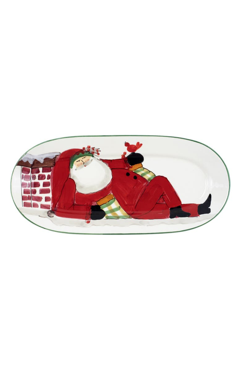 VIETRI Old St. Nick Small Oval Platter, Main, color, MULTI