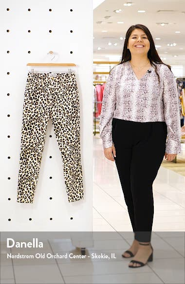 Ali Leopard Print High Waist Crop Skinny Jeans, sales video thumbnail